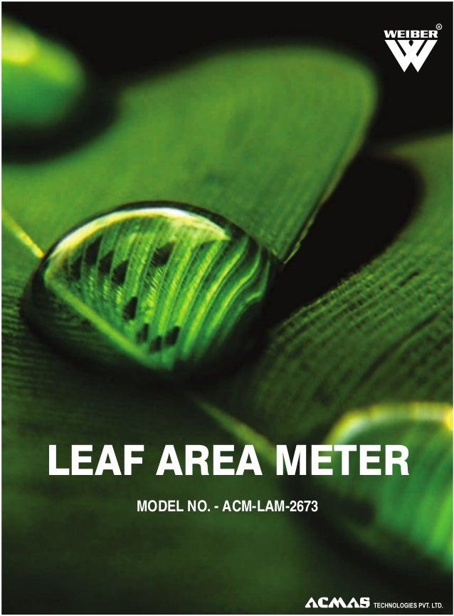 R  LEAF AREA METER MODEL NO. - ACM-LAM-2673