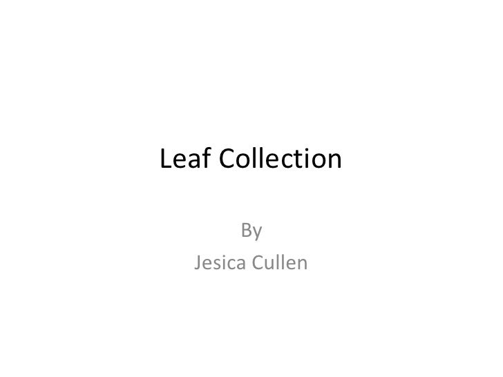 Leaf Collection<br />By <br />Jesica Cullen<br />