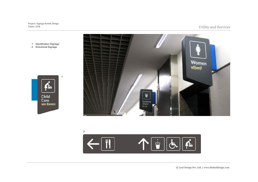 Signage Design For Mumbai International Amp Domestic Airport