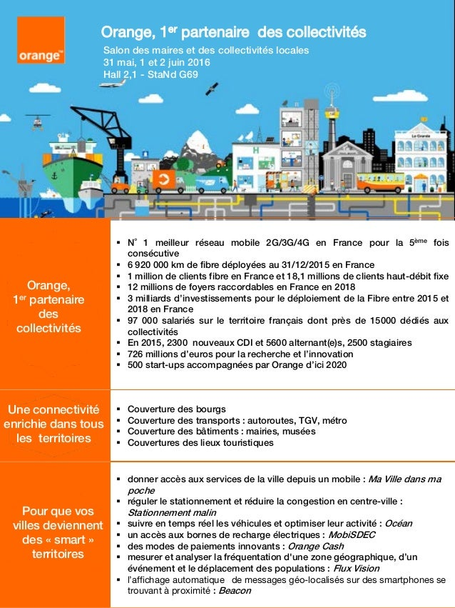 Orange au smcl 2016 - Salon des maires et des collectivites locales ...