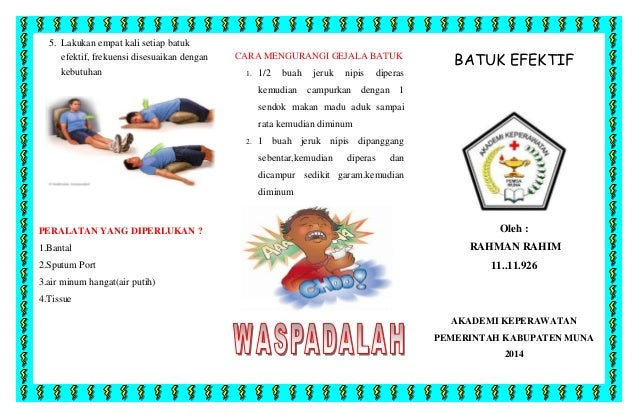 leaflet batuk efektif akper muna