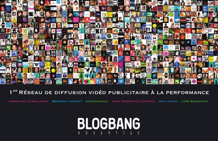 1er Réseau de diffusion vidéo publicitaire à la performance marketing d'influence   Branded content Advergaming   User Gen...