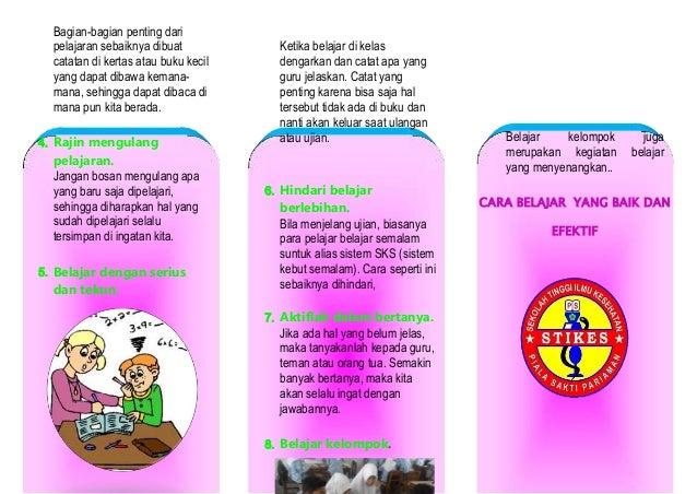 leaflet belajar yang baik dan efektif
