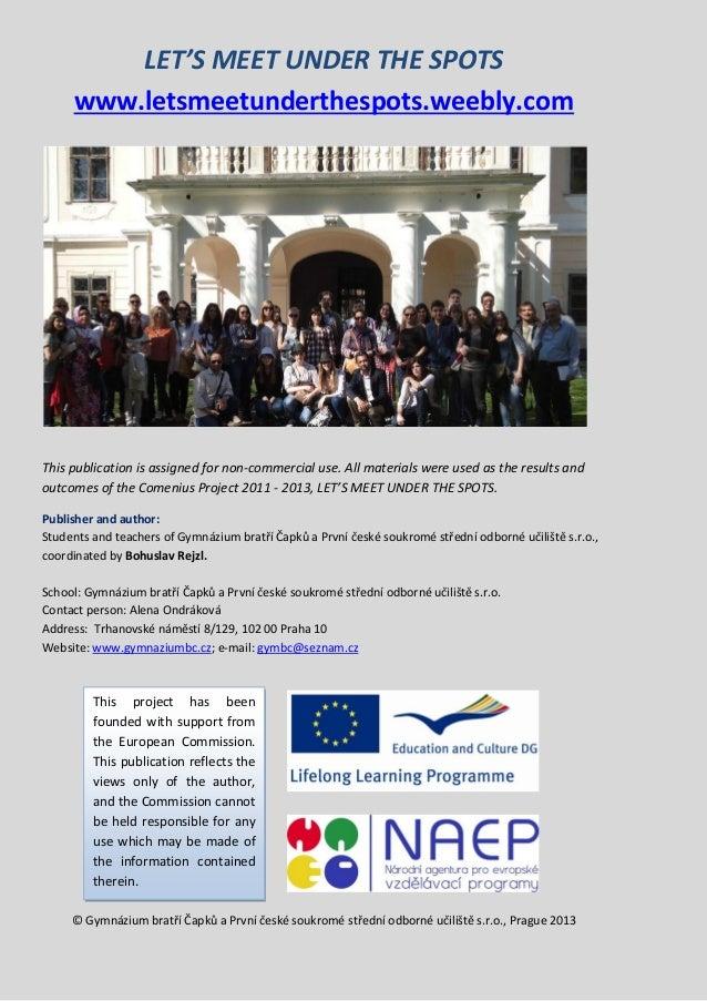 Leaflet of the Comenius Project - Czech Republic