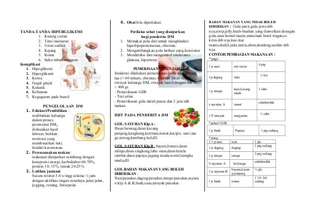 Leaflet Diabetes Mellitus