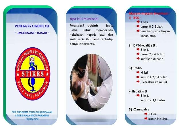 Macam-macam Imunisasi :                                   Apa Itu Imunisasi               1) BCG :                        ...