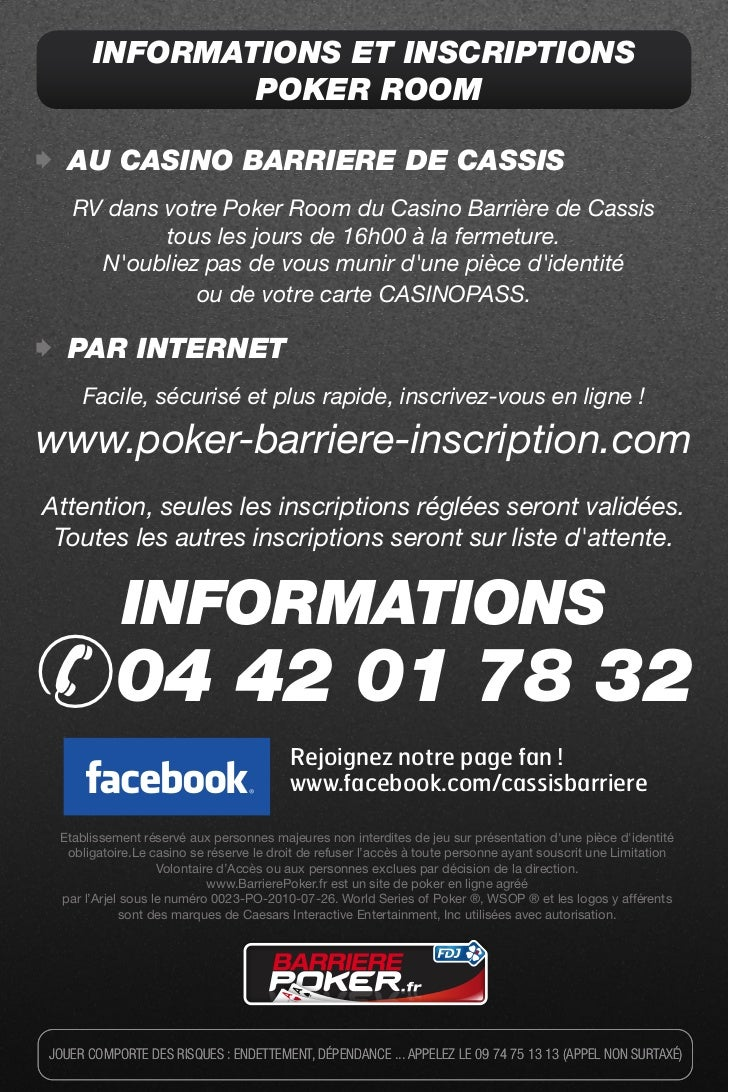 Poker barriere