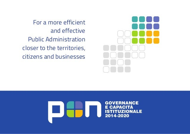 For a more efficient and effective Public Administration closer to the territories, citizens and businesses