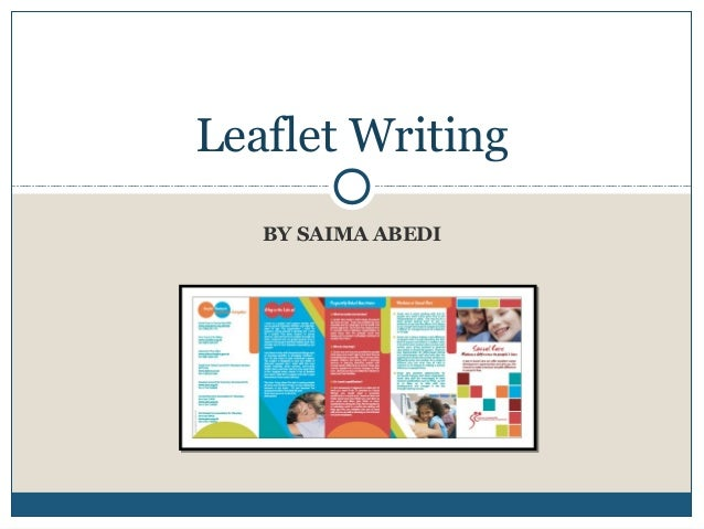 leaflet writing format
