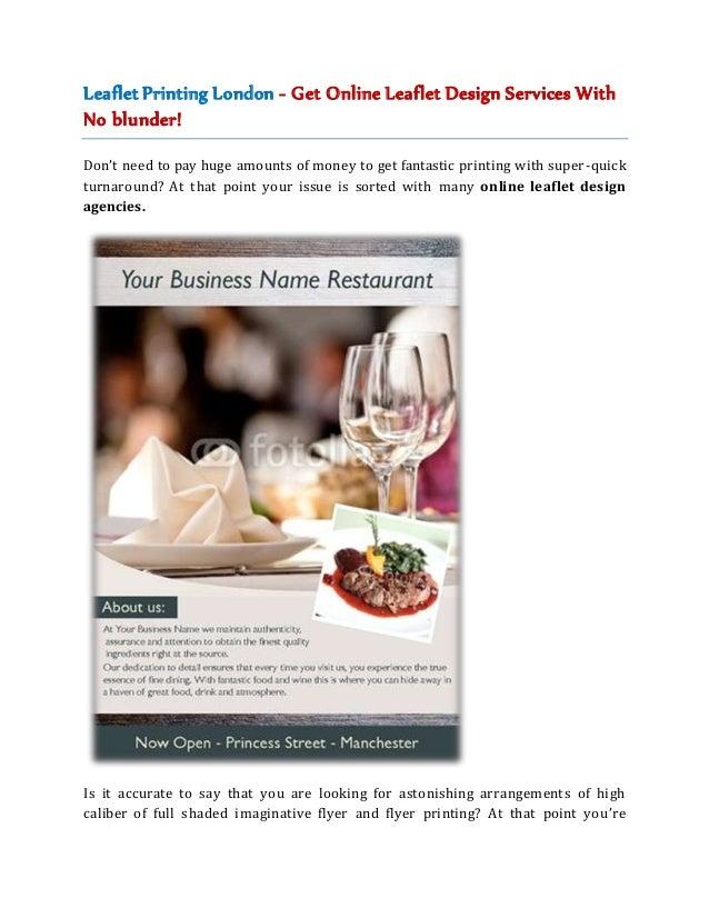 leaflet printing london get online leaflet design services with no