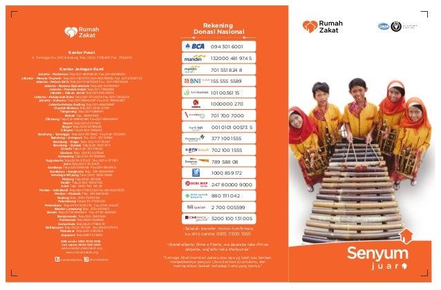 Rekening Donasi Nasional  TM  Cert. No. FS 590603 ISO 9001 : 2008  094 301 6001 Kantor Pusat Jl. Turangga No. 25C Bandung ...