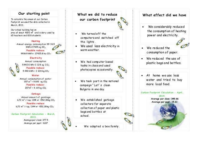 Leaflet template bulgaria 2 what we did to reduce our carbon footprint pronofoot35fo Images