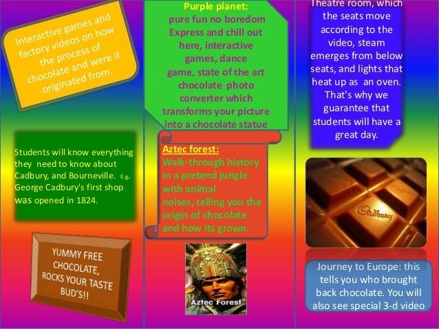 Leaflet template cadbury world