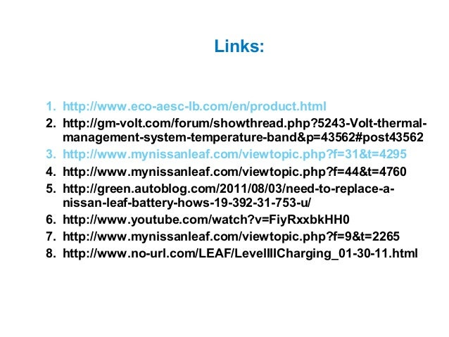 Nissan LEAF Battery Pack - Initial Analysis