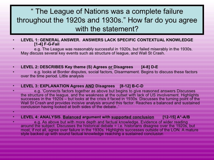 league of nations failure Get an answer for 'was the league of nations a success or a failurewas the league of nations a success or a failure' and find homework help for other history.