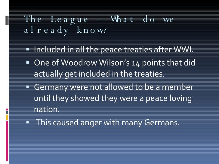 league of nations short summary Short summary germany accepted into league of nations at seventh assembly, geneva description league of nations - geneva, switzerland ( seventh assembly .