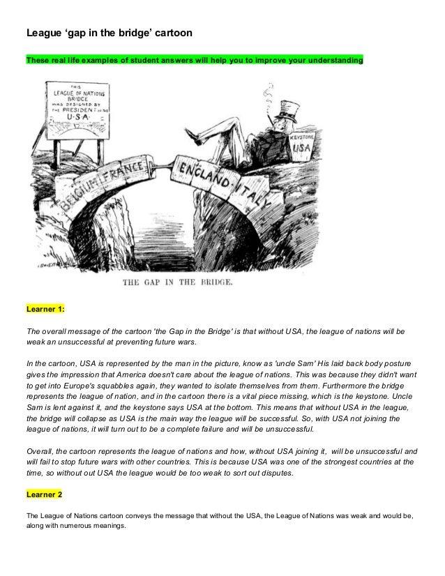 League 'gap in the bridge' cartoon answers