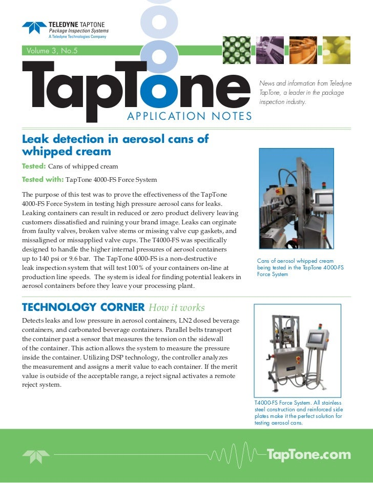 TapTone Volume 3, No.5                                                                                News and information...