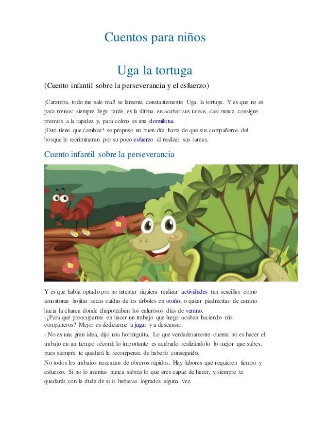 Cuentos para niños Uga la tortuga (Cuento infantil sobre la perseverancia y el esfuerzo) ¡Caramba, todo me sale mal! se la...