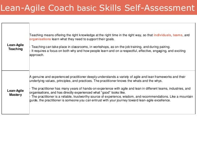 Lean-Agile Teaching Teaching means offering the right knowledge at the right time in the right way, so that individuals, t...