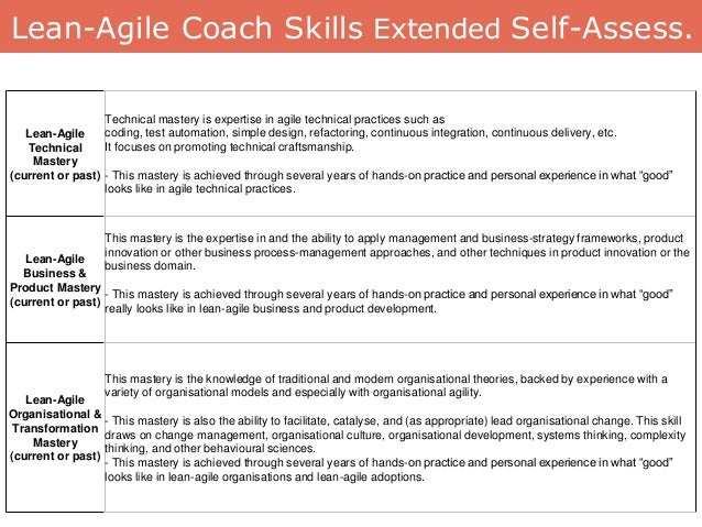 Lean-Agile Technical Mastery (current or past) Technical mastery is expertise in agile technical practices such as coding,...