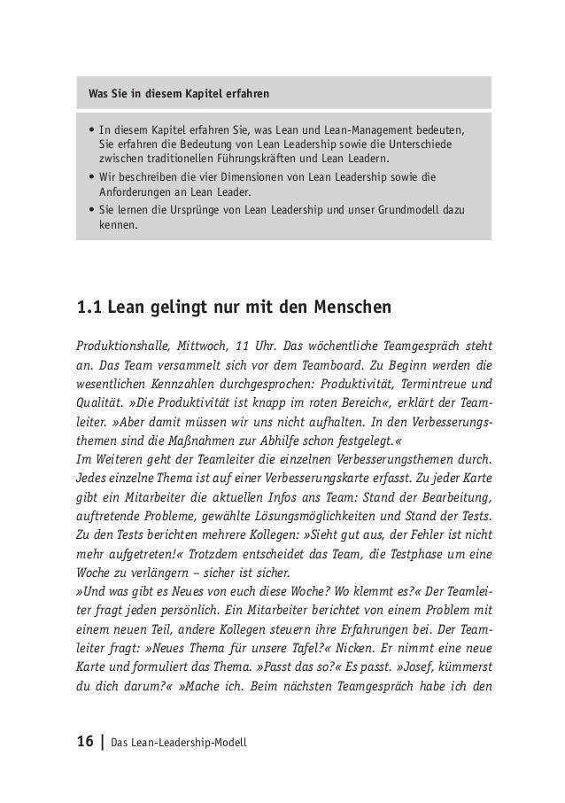 16   Das Lean-Leadership-Modell Was Sie in diesem Kapitel erfahren •In diesem Kapitel erfahren Sie, was Lean und Lean-Man...