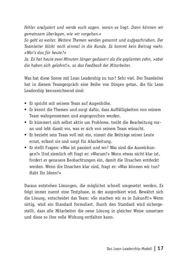 Das Lean-Leadership-Modell   17 Fehler analysiert und werde euch sagen, woran es liegt. Dann können wir gemeinsam überlege...