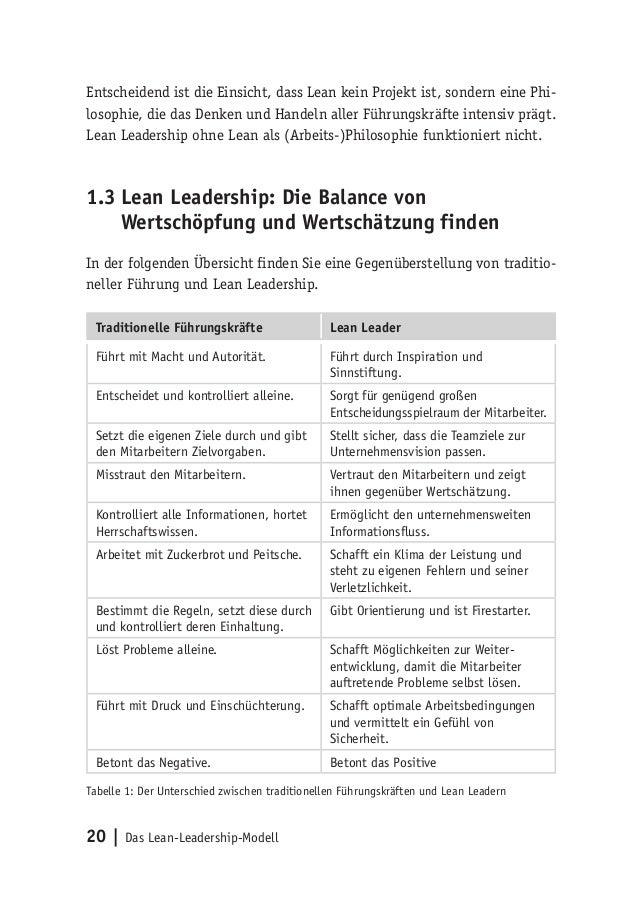 20   Das Lean-Leadership-Modell Entscheidend ist die Einsicht, dass Lean kein Projekt ist, sondern eine Phi- losophie, die...