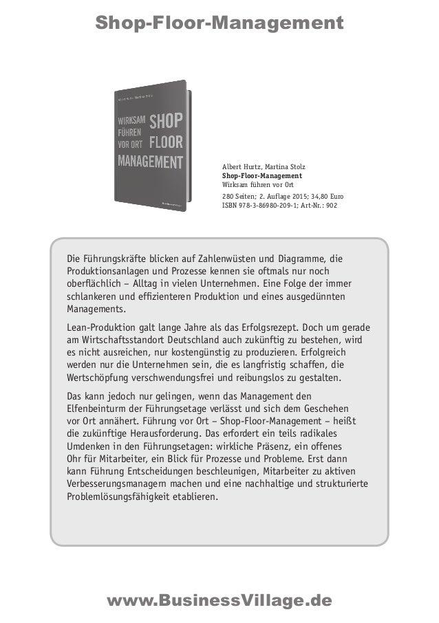 Shop-Floor-Management Die Führungskräfte blicken auf Zahlenwüsten und Diagramme, die Produktionsanlagen und Prozesse kenne...