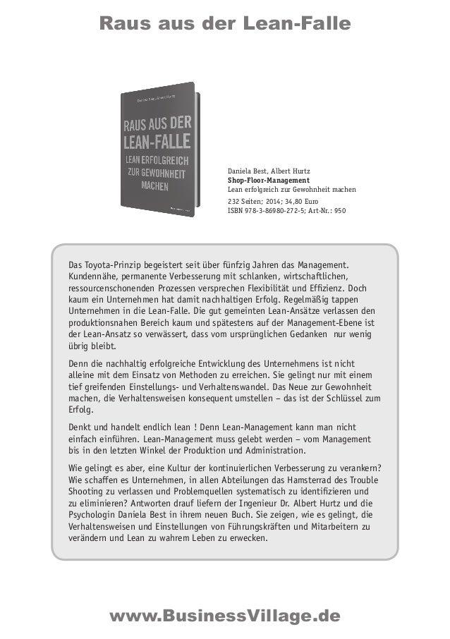 Raus aus der Lean-Falle Das Toyota-Prinzip begeistert seit über fünfzig Jahren das Management. Kundennähe, permanente Verb...