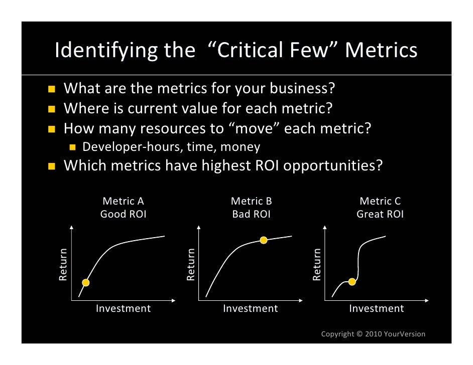 "Identifyingthe""CriticalFew"" Metrics   Whatarethemetricsforyourbusiness?   Whereiscurrentvalueforeachmetric..."