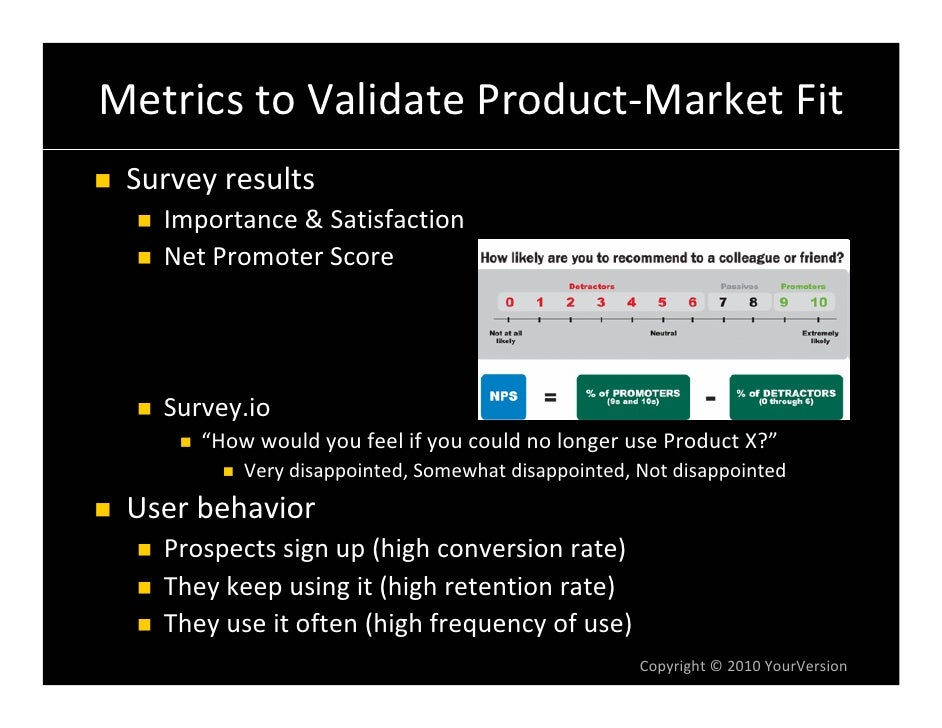 MetricstoValidateProduct‐MarketFit  Surveyresults    Importance&Satisfaction    NetPromoterScore        Survey.io...