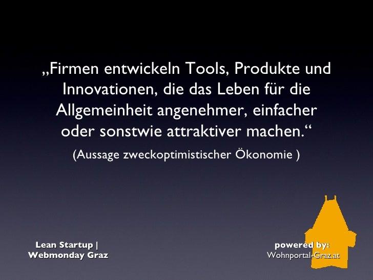 Lean startup | Webmonday Graz Slide 3