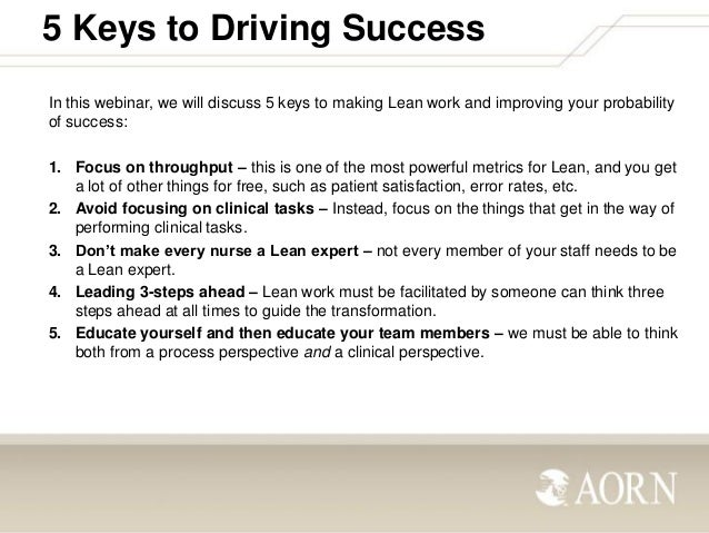 LEAN: 5 Keys to Success