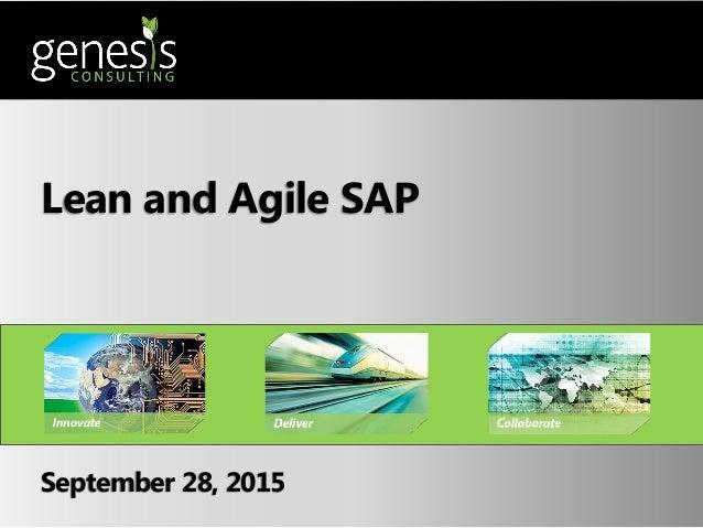 Lean and Agile SAP September 28, 2015