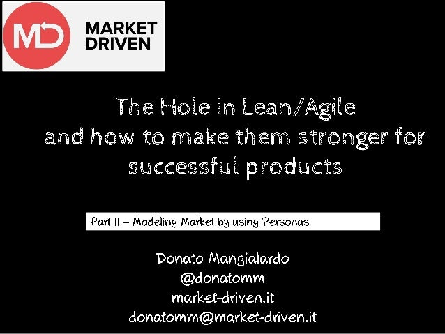 Where Lean/Agile need to be fed to become much stronger