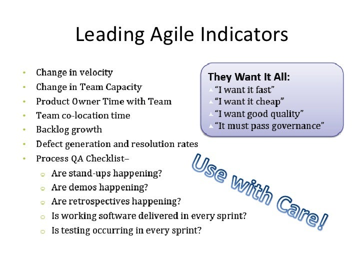 Agile metrics and kpis laggingleading fandeluxe Gallery