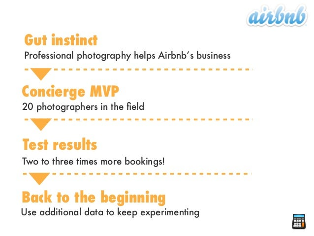 Professional photography helps Airbnb's businessGut instinctConcierge MVP20 photographers in the fieldTest resultsTwo to th...
