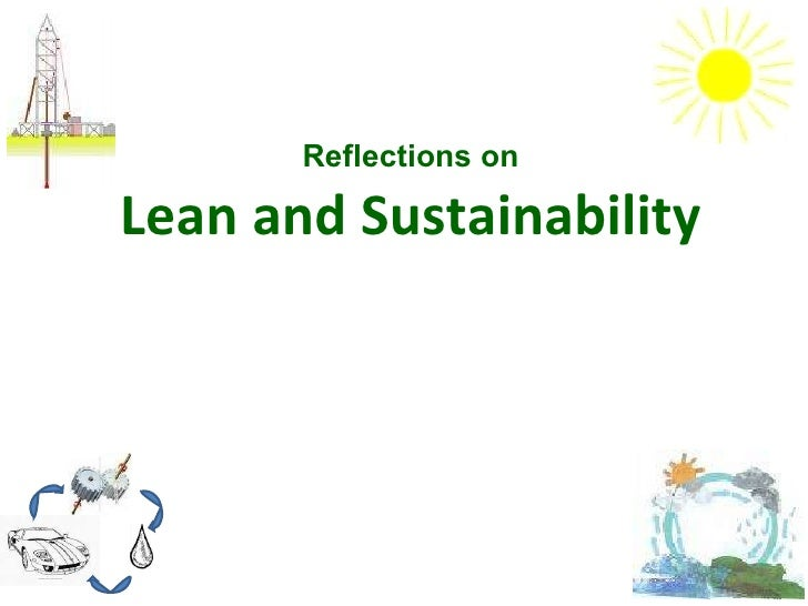 Reflections on Lean and Sustainability