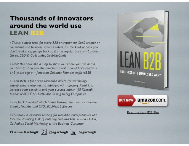 «This is a must read for every B2B entrepreneur, SaaS creator or consultant and business school student. It's the kind of ...