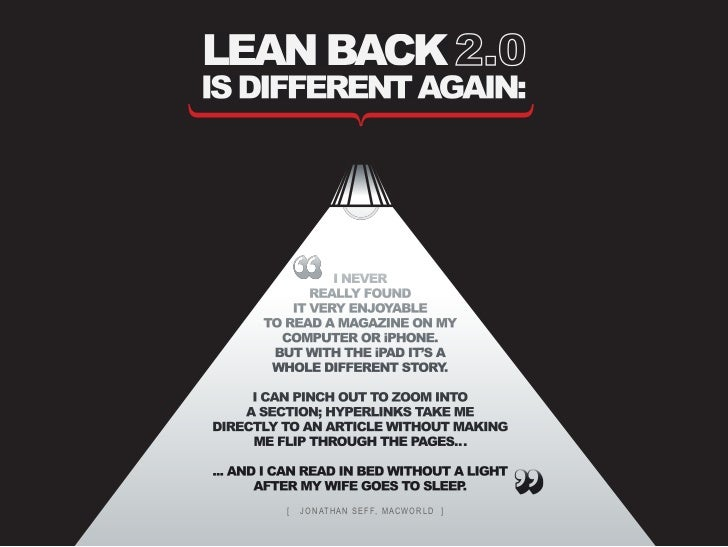 lean backis different again:                 i never              really found           it very enJoyable       to read a...