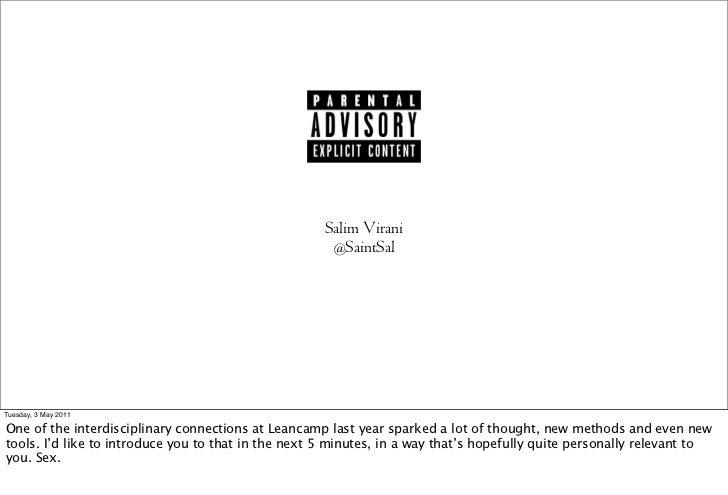 Salim Virani                                                      @SaintSalMonday, 2 May 2011One of the interdisciplinary ...