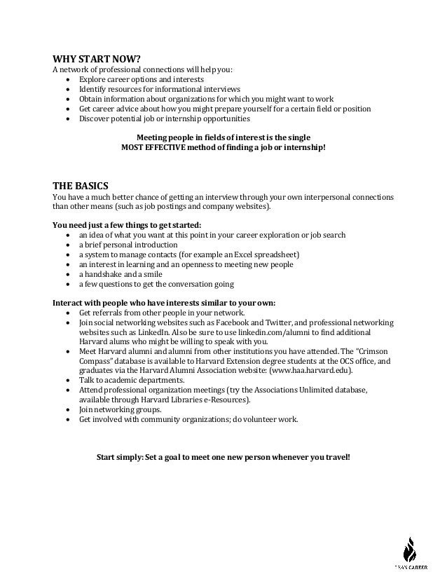 what is the goal of an informational interview