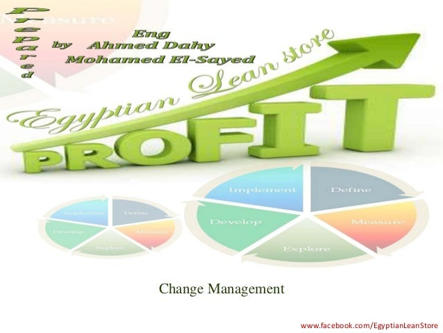 Change Management                    www.facebook.com/EgyptianLeanStore
