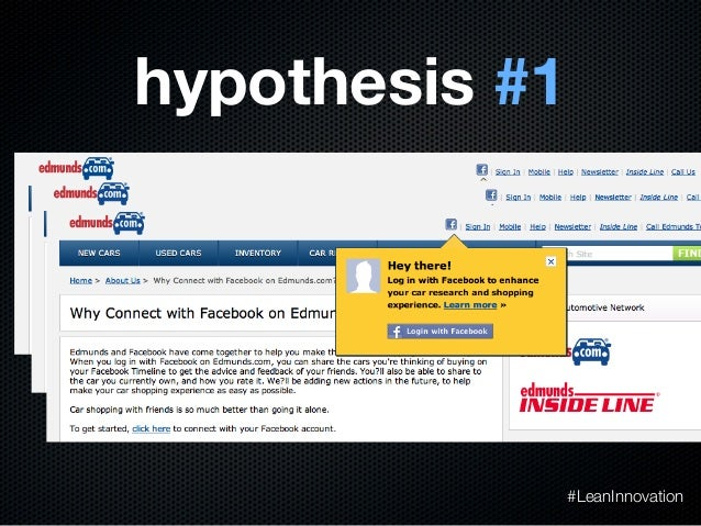 hypothesis #1#LeanInnovation
