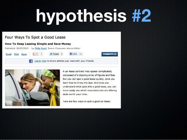 hypothesis #2