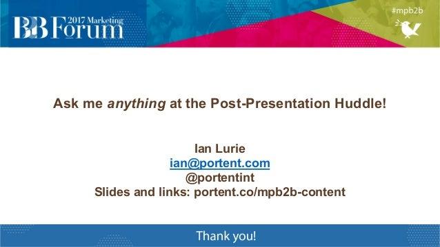 Lean Content: Marketing Profs B2B