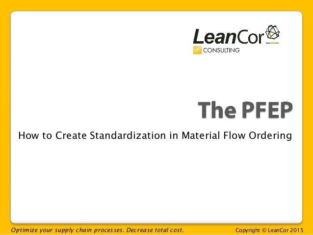 Optimize your supply chain processes. Decrease total cost. Copyright © LeanCor 2015 How to Create Standardization in Mater...