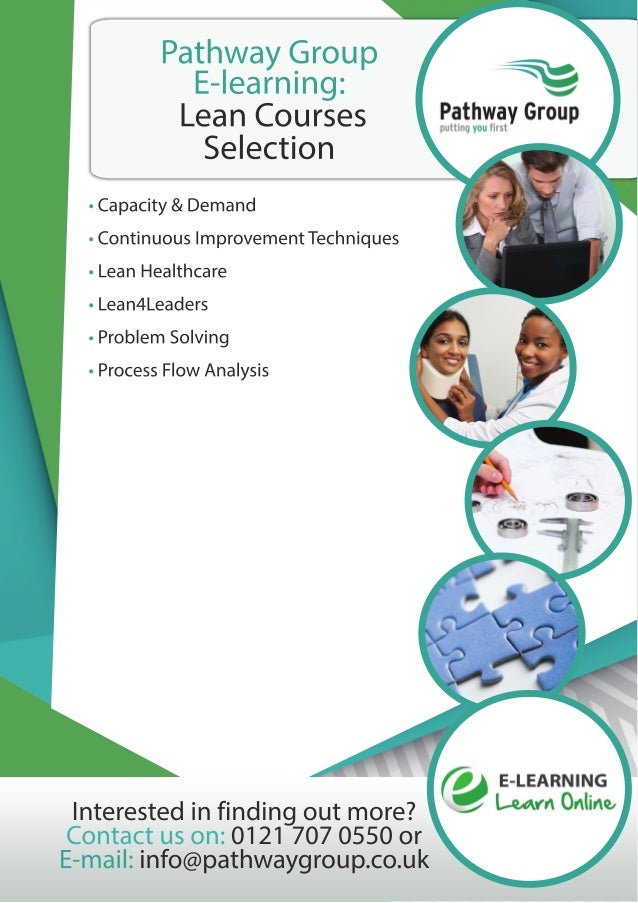 Lean Course Catalogue, E-learning, Pathway Group