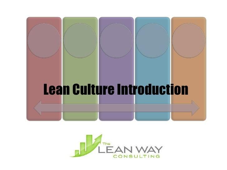 Lean Culture Introduction